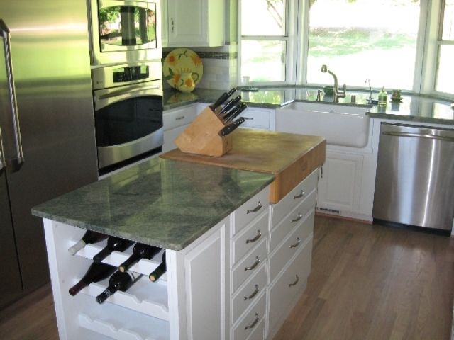 Cool Idea For A Butcher Block In The Island