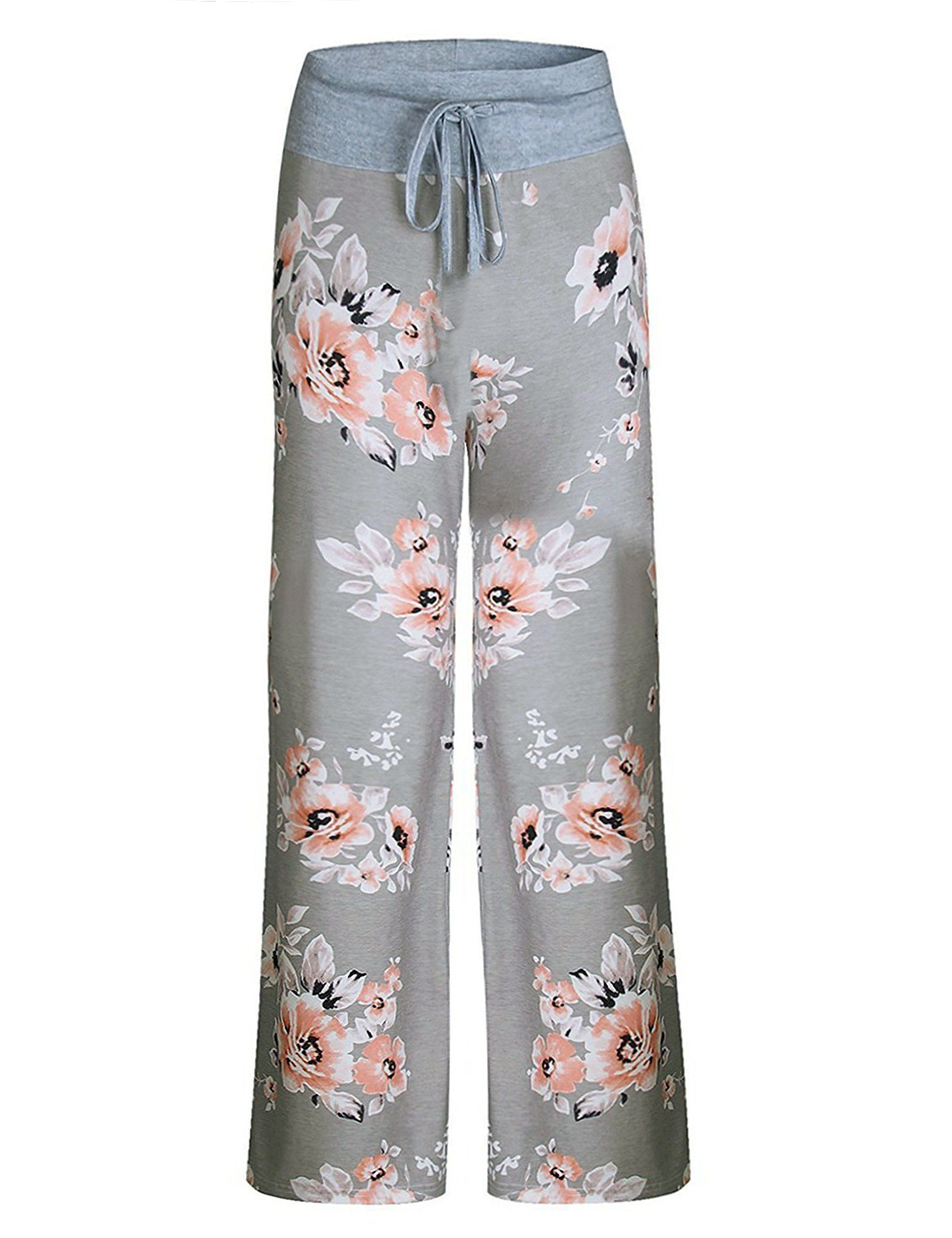 d7b4f31f23d Aifer Womens Pajama Comfy Chic Floral Print Lounge Drawstring Palazzo Long  Wide Leg Pants -- A lot more info might be found at the image link.