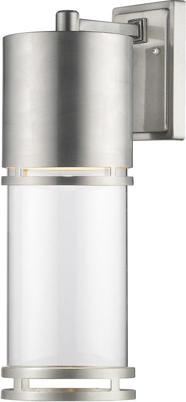 Z-Lite 553B-BA-LED Outdoor LED Wall Light Luminata Collection Clear Glass Finish
