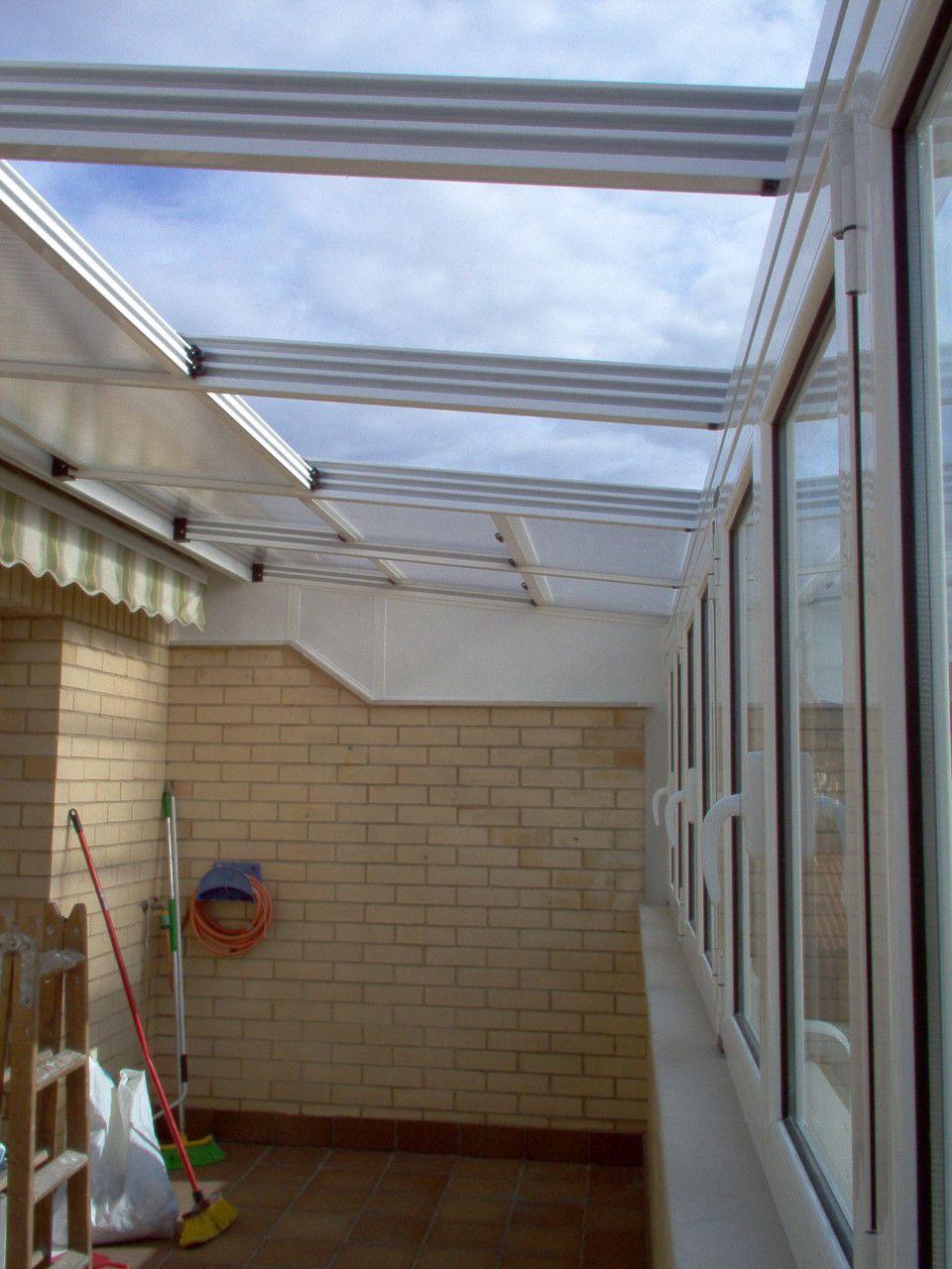 Techo policarbonato patio pinterest techo for Techos de tejas para patios exteriores