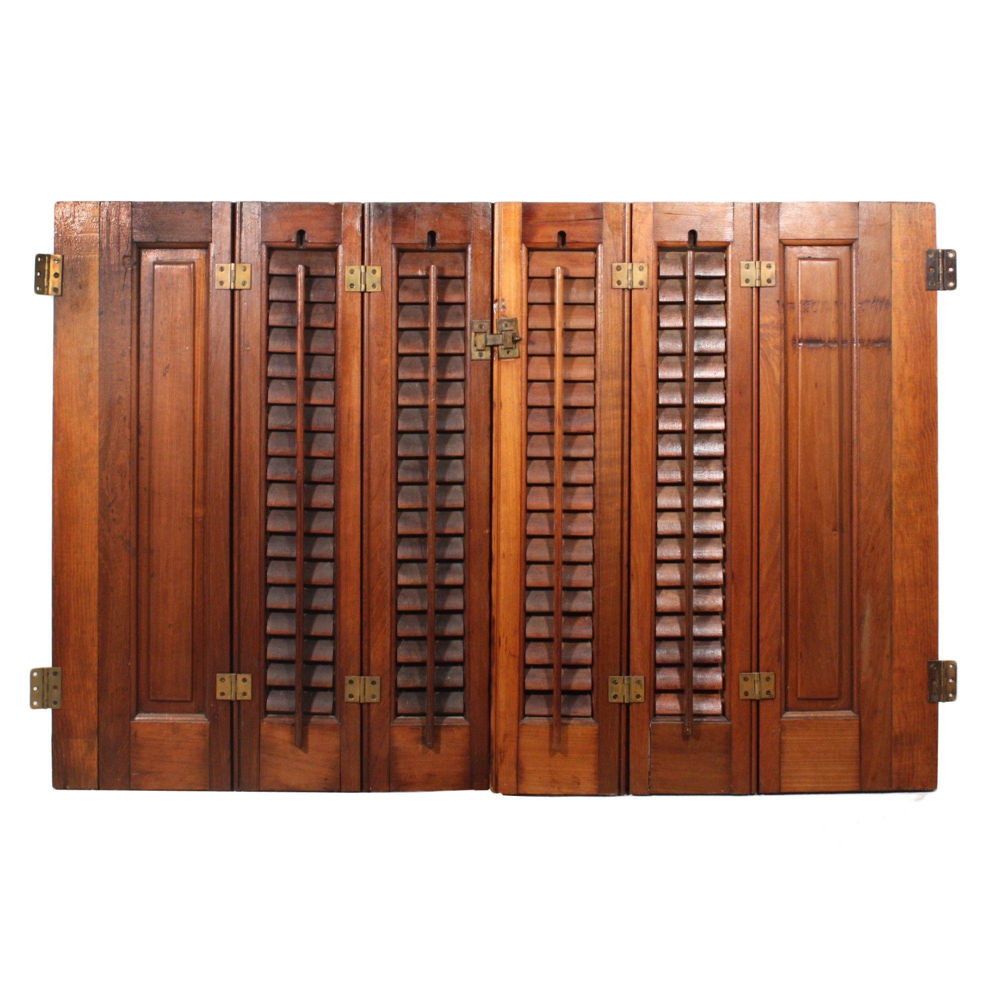 Preservation Station Interior Wood Shutters Antique Interior Interior Shutters