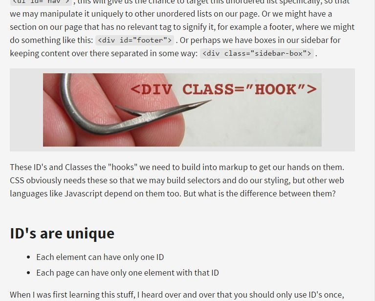 The Difference Between ID and Class | CSS-Tricks | [DIC