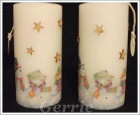 Gepimpte kaarsen met servetten