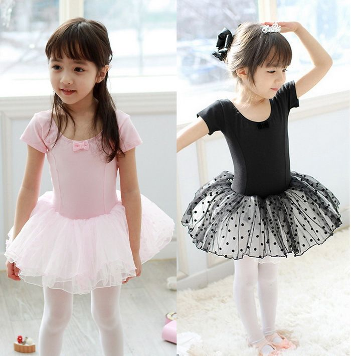 Toddler Girls Gymnastics Dance Dress Ballet Tutu Skirt Leotard Dancewear 2-12Y
