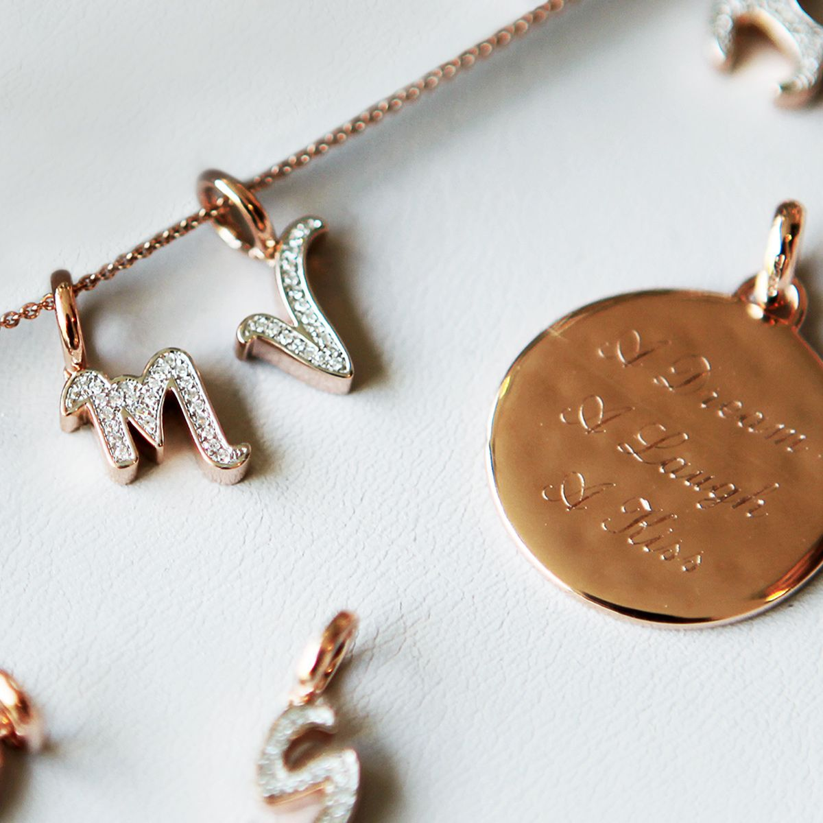 From initials to your favourite song lyrics. Make your #jewellery personal with our complimentary engraving service. #MonicaVinader