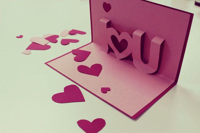 romantische diy valentinskarte zum nachbasteln valentinstag geschenke pinterest. Black Bedroom Furniture Sets. Home Design Ideas