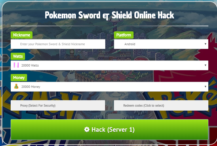 Okemon Sword Shield Online Hack Is Now Available For Android Ios Generate Unlimited Watts Money With This Awesome Pokemon Sword Shield Online Hack Chea