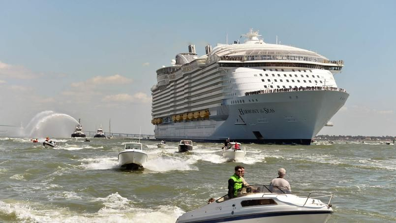 Le gigantesque harmony of the seas a quitt saint nazaire for Bureau plus st nazaire