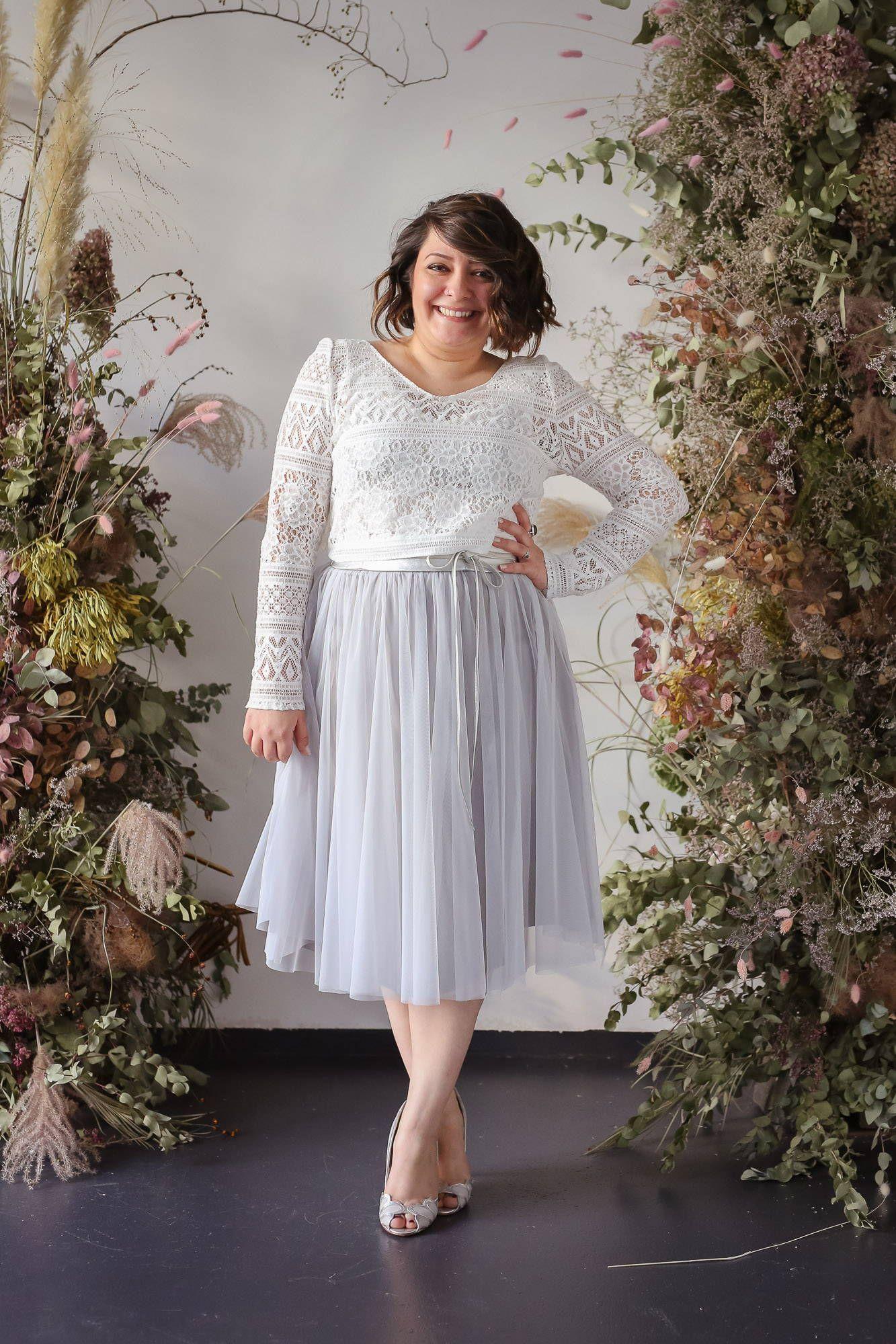 noni Brautkleider, Standesamt-Kleid, zweiteilig, mit Boho ...