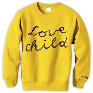 Love Child Crewneck in yellow. T