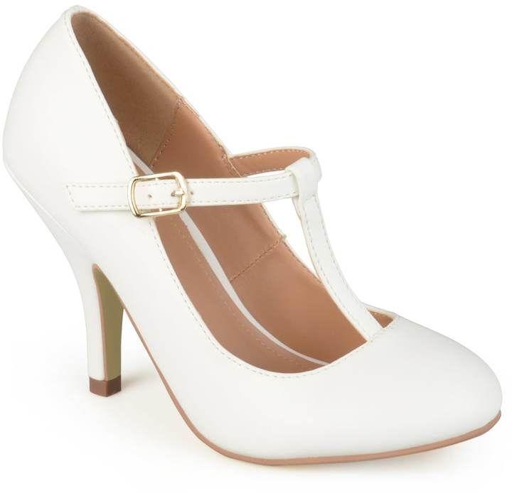 Journee Collection Liza ... Women's Matte T-Strap High Heels XvSUji62