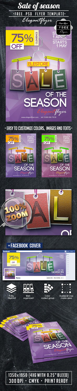 Sale of season – Free PSD Flyer Template https://www.elegantflyer ...
