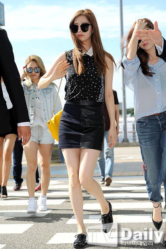 snsd seohyun airport fashion 140802 2014 snsd airport