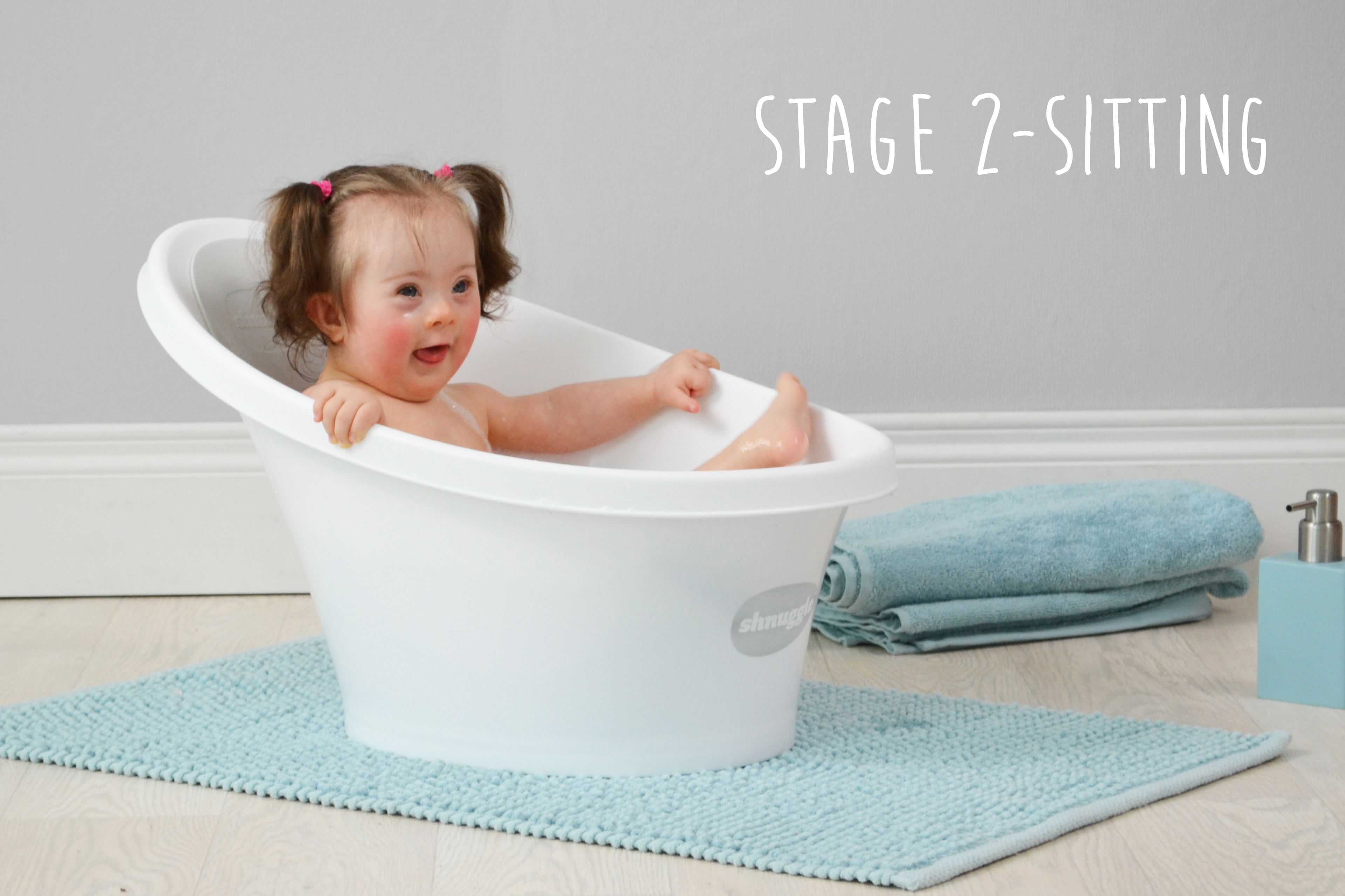 Gorgeous Willow Modelling The New Shnuggle Baby Bath - Bathing Baby Without Tub