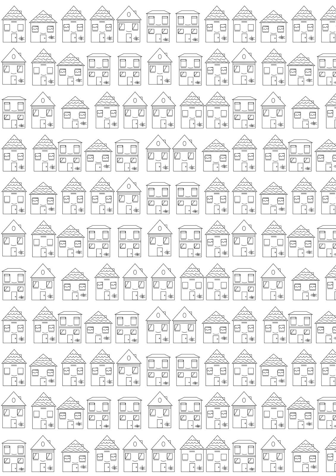 FREE printable #houses coloring page | #housescoloring