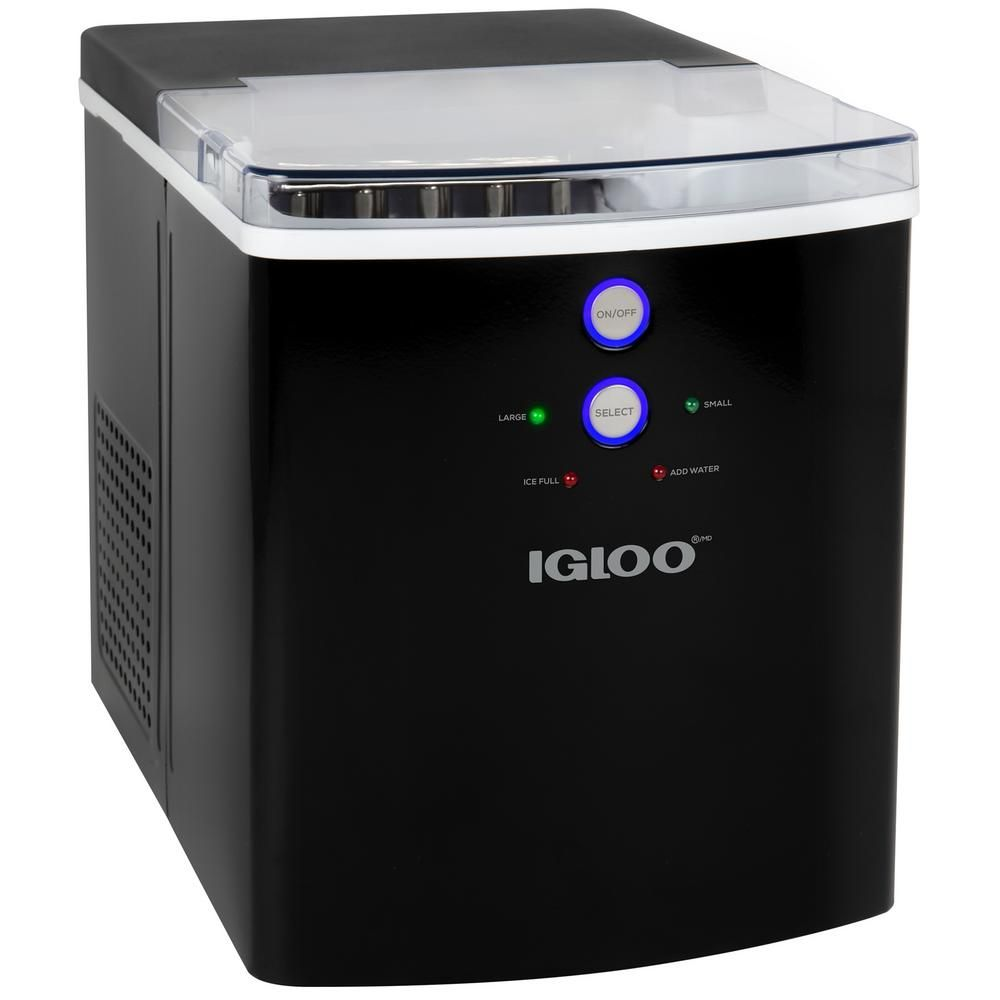 Igloo 33 Lb Portable Countertop Ice Maker In Black Countertops