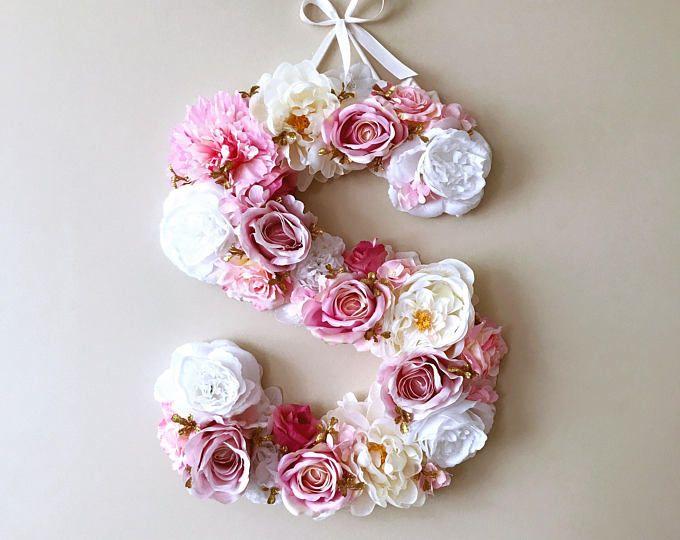 Große Blume Buchstaben, Floral Brief, Hochzeit, personalisierte ...