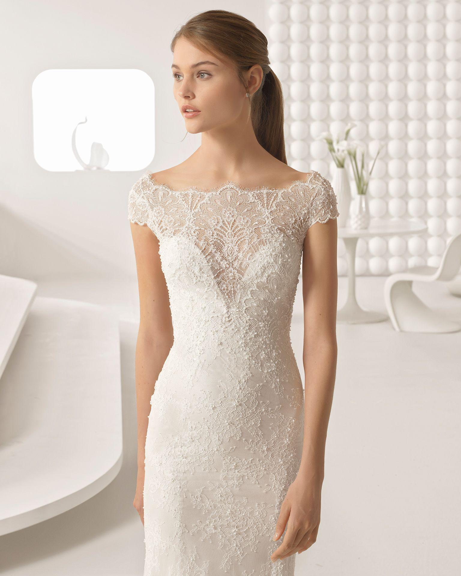 Vestido para boda civil color perla
