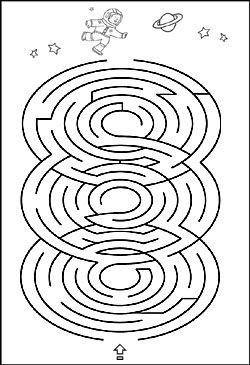 labyrinth bild f r kinder space theme pinterest maze kindergarten und mazes for kids. Black Bedroom Furniture Sets. Home Design Ideas