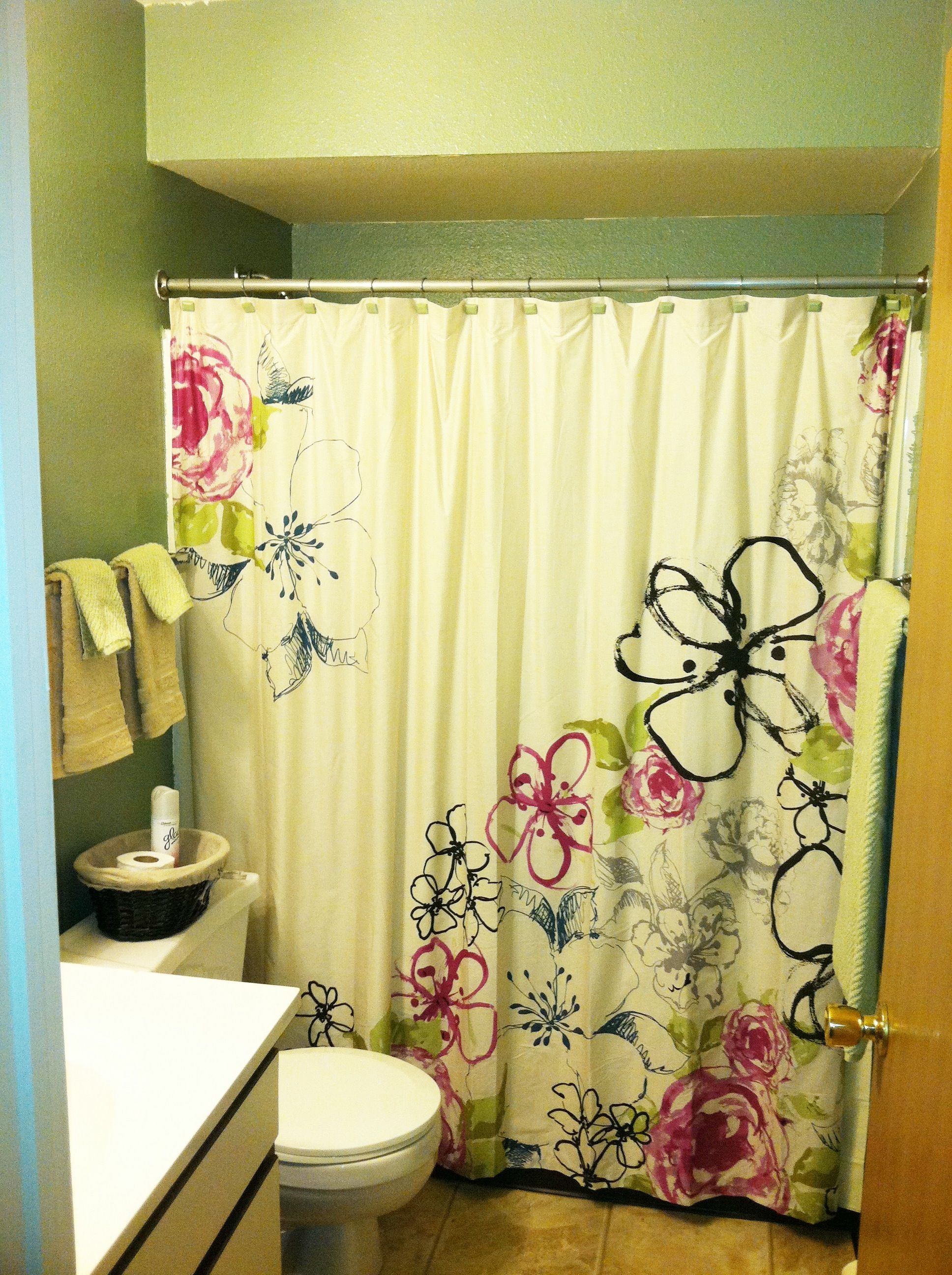 Bed bath and beyond window curtains  kody and my bathroom i decorated shower curtain from bed bath and