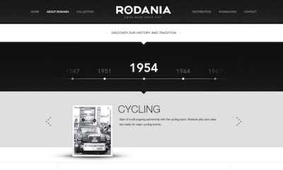 Rodania | About Us page for #inspiration #webdesign