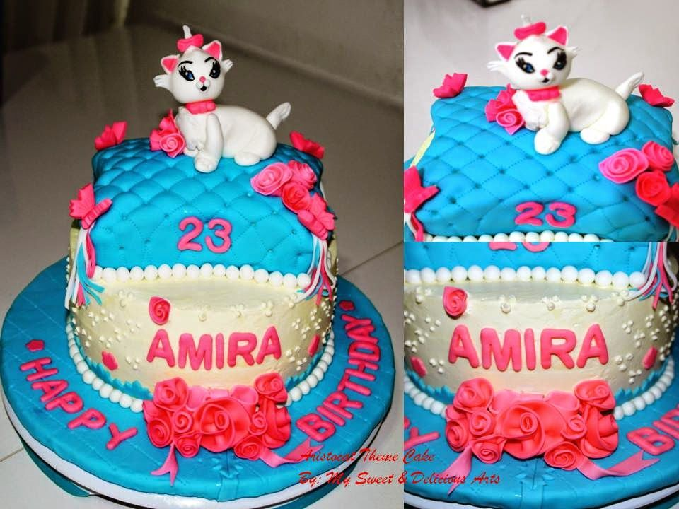 My sweet & Delicious Arts: Pinky Kitty Theme Cake