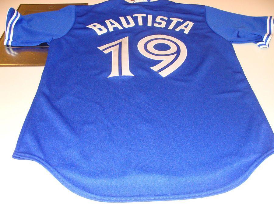 f41103fbbb874 2012 Toronto Blue Jays Jose Bautista Alt Blue Jersey M MLB Baseball  Majestic Jays Jose Blue