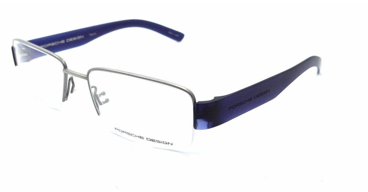 56396ab4010 Porsche Design Rx Eyeglasses Frames P8203 C 54x17 Titanium   Blue Made in  Japan