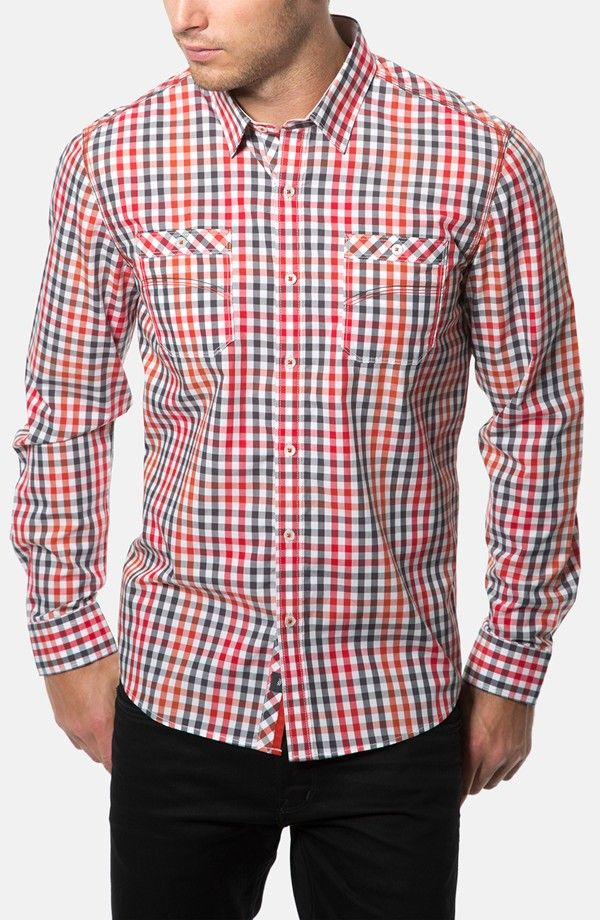 Yes another 7 Diamonds men's dress shirt. Red, white, blue checks ...