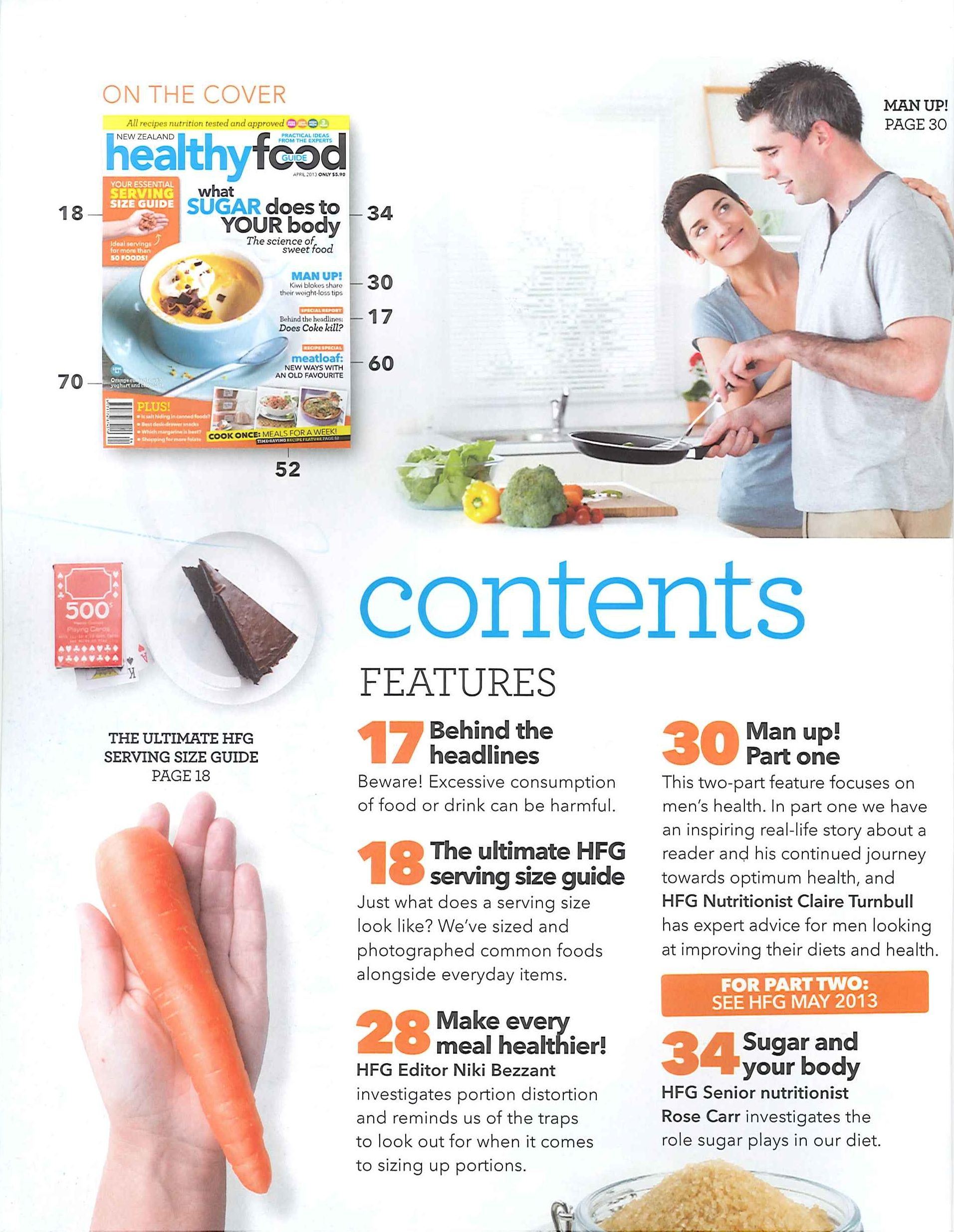 Excellent Examples of Table of Contents (2/5) healthy-food ...Food Magazine Table Of Contents
