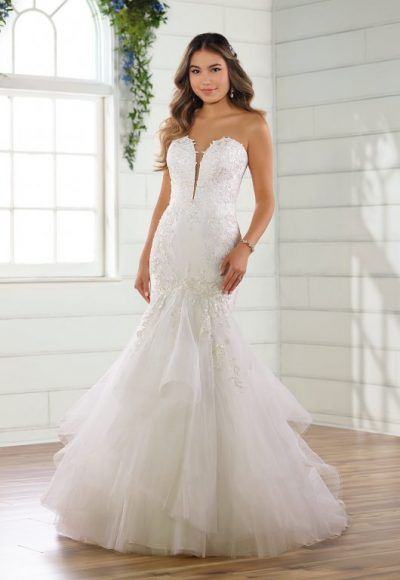 Strapless Fit And Flare Tulle Skirt | Kleinfeld Bridal