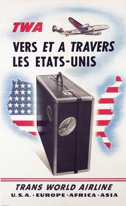 TWA - Vers et a travers les Etats-Unis, 1950 ca.