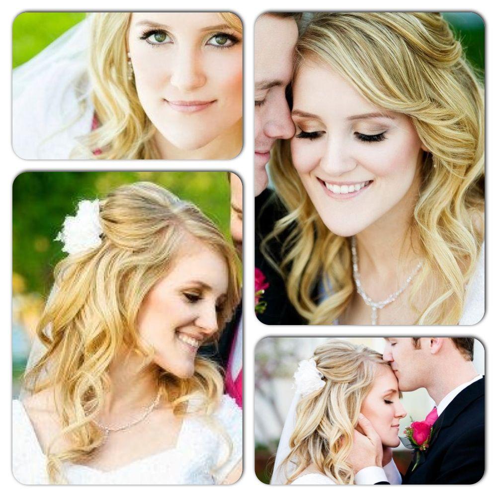 Blonde Loose Curls Bridal Hair Half Up Highlights For Blondes
