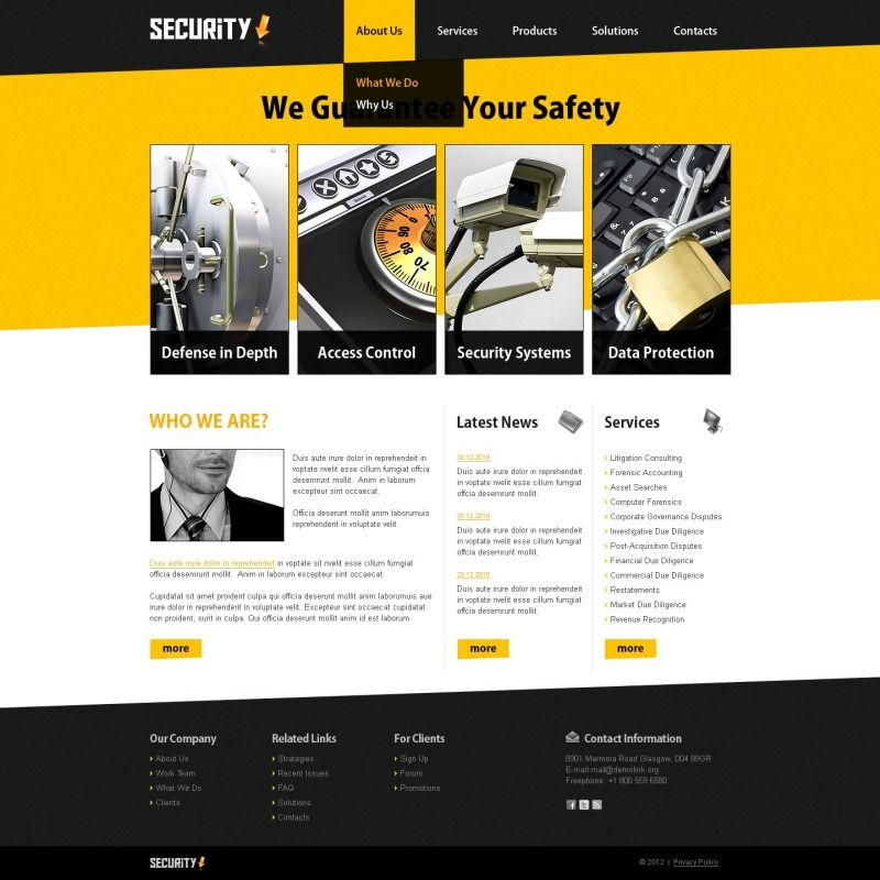 Information Security Website Template Web Design Ideas Pinterest - Information website template