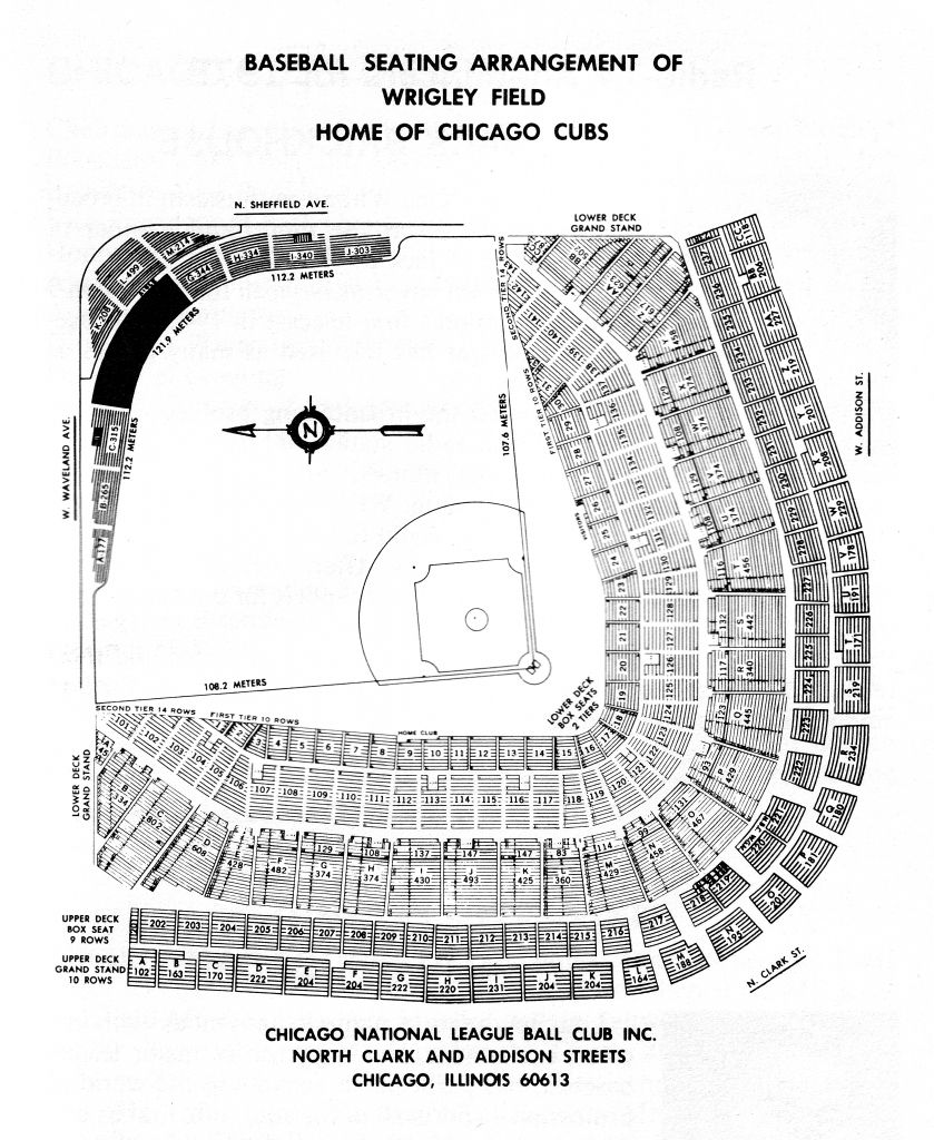 The Most Incredible Wrigley Field Detailed Seating Chart Event Seating Chart Seating Charts Wrigley Field