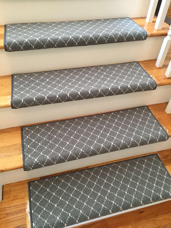 Luxury Distinctive Storm 100 New Zealand Wool True Bullnose | Padded Carpet Stair Treads | Stair Risers | Adhesive Padding | Bullnose Padded | Staircase Makeover | Flooring