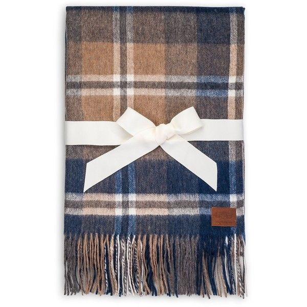 Ugg Throw Blanket Beauteous Ugg Australia Glacier Plaid Wool Throw $87 ❤ Liked On Polyvore Design Inspiration