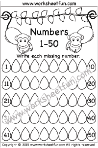 Missing Numbers – 1-50