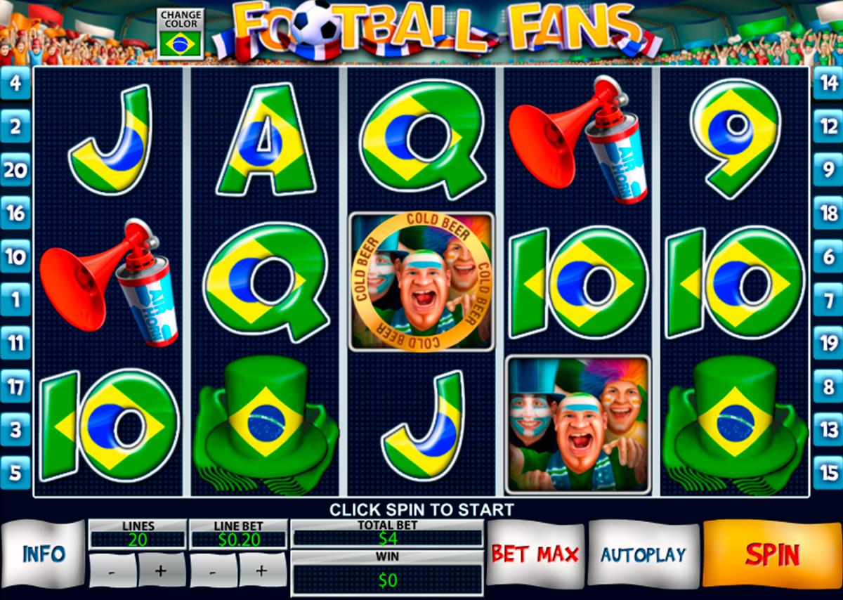 Football Fans on hyvää kolikkopeli netissä joka on Playtech kehittääjä. Pelissa on jalkapallo teema, hyvää gtafiikka ja on mahdolisuus voitta iso rahasumma. Kolikkopelissa on 5 rullat ja 20 voittolinjat.