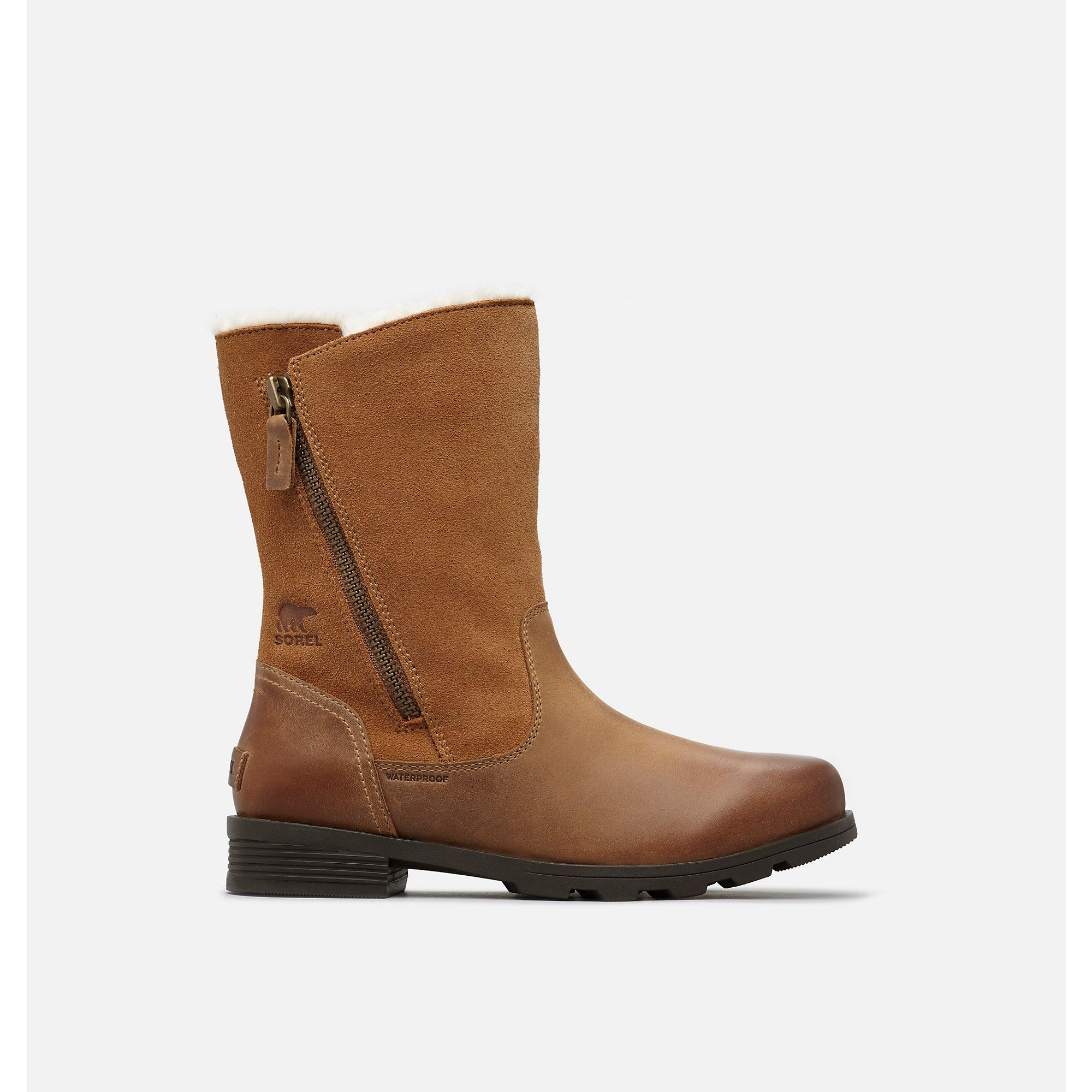 279973781437a1 SOREL EMELIE FOLDOVER Size 7.5 - Camel Brown