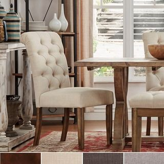 Shop For Signal Hills Benchwright Button Tufts Upholstered Rolled Pleasing Sale Dining Room Chairs Review