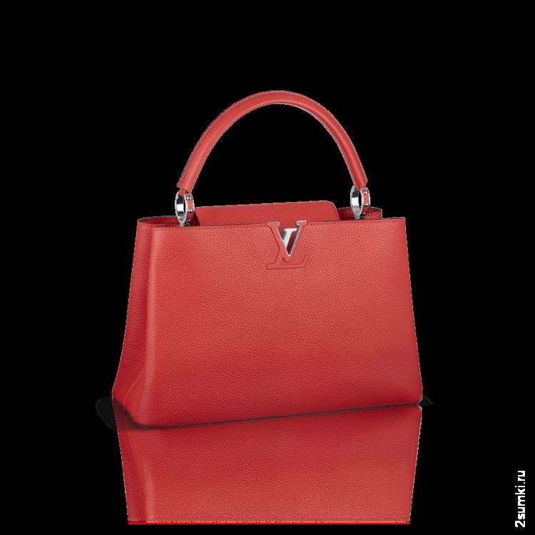 7de8876543d8 Сумка Louis Vuitton Capucines MM Красная - 10 999 руб. Купить копии недорого  в интернет-магазине.
