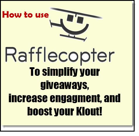 How to Use RaffleCopter to Simplify Your Giveaways, Increase Engagement, and Boost Your Klout!   CrafterMinds