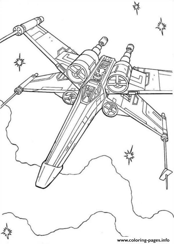 Print Star Wars X Wing Fighter Coloring Pages Star Wars Coloring