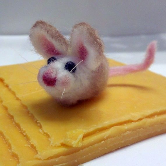 Игла войлочная мышь / needlefelted мышей Felt mouse