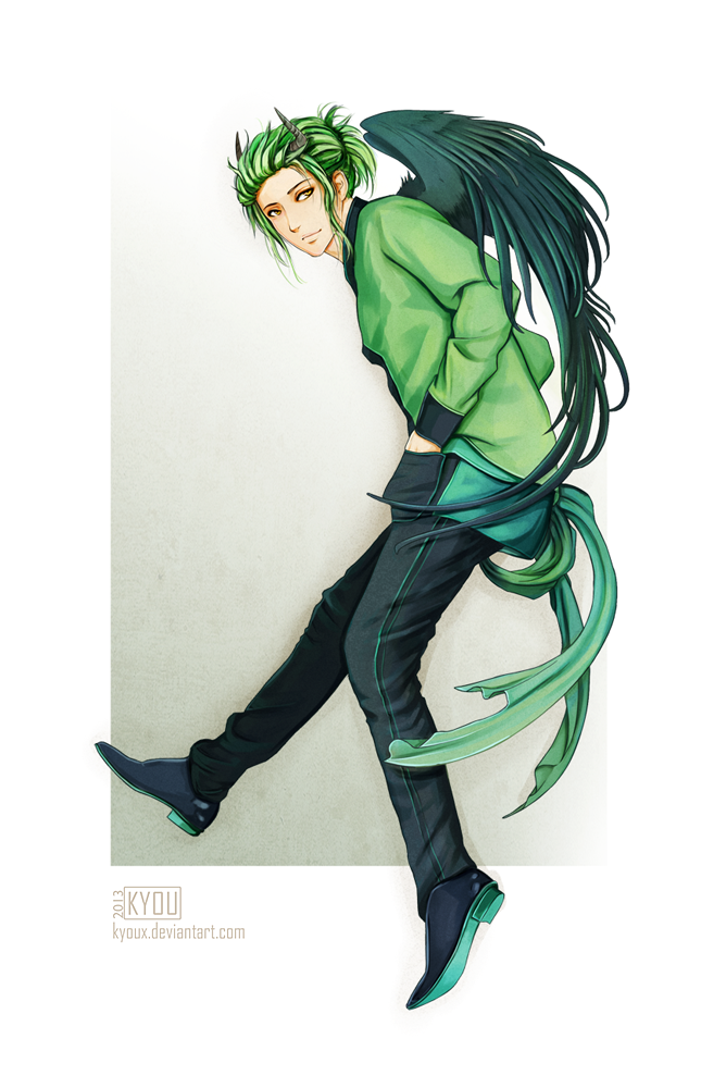 Commission Sasuke By Kiyumiyu Green Hair Men Green Hair Anime Green Hair