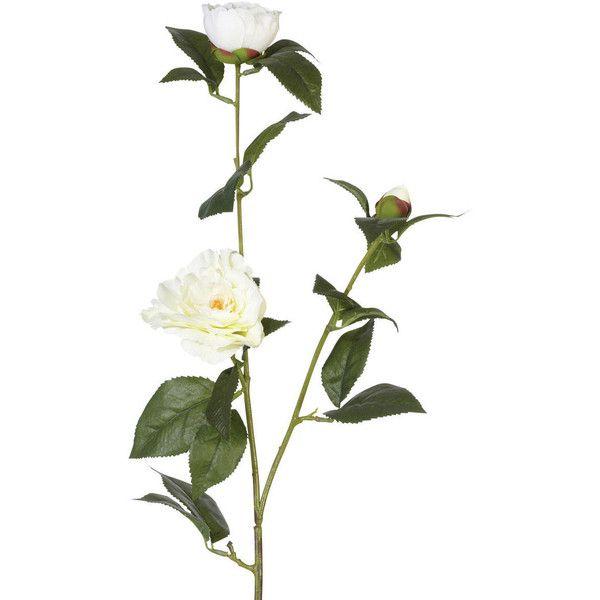 Oka Faux Camellia Nobilissima Flower Stem Artificial Silk Flowers Fake Flower Arrangements White Flower Bouquet