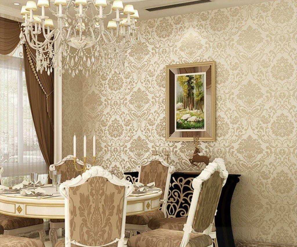 Damask Wallpaper Dining Room Ideas | http://enricbataller.net ...
