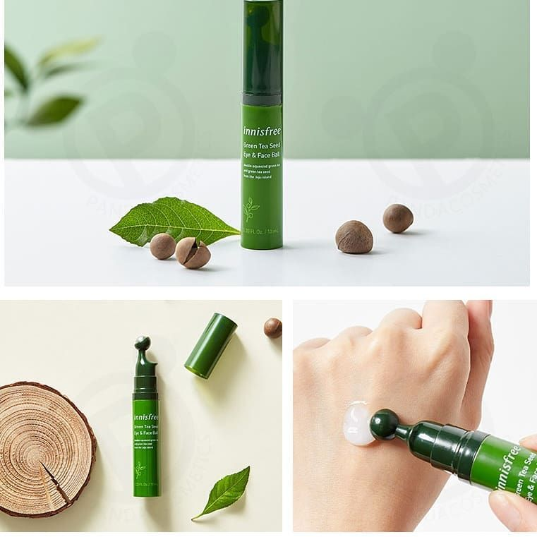 Innisfree Green Tea Seed Eye and Face Ball enriched with organic ...