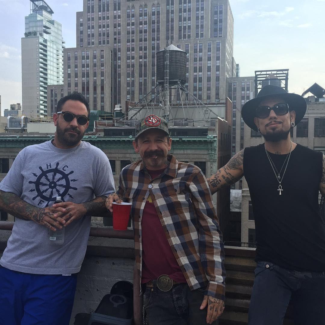 Chris Nunez, Oliver Peck & Dave Navarro in NYC Photo by